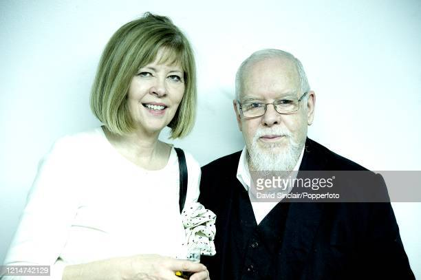 British artist Sir Peter Blake with his wife Chrissy at The Barbican in London on 20th November 2010