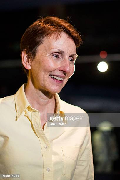 British astronaut Helen Sharman attends an event to mark 25 years since her space mission hosted by the Science Museum on May 20 2016 in London...