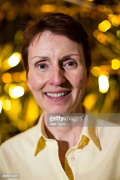 British astronaut Helen Sharman poses at an event to mark 25 years since her space mission hosted by the Science Museum on May 20 2016 in London...