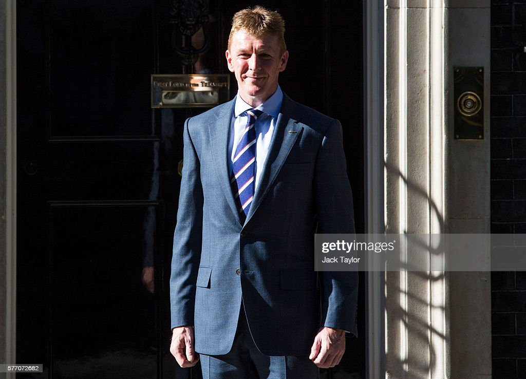 Theresa May Hosts A Reception For British Astronaut Tim Peake