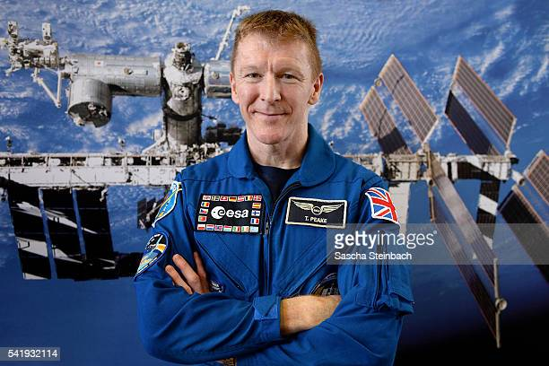 British astronaut Tim Peake poses after his first press conference since his return from space at the European Space Agency European Astronaut Centre...