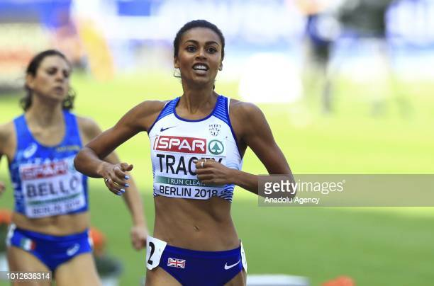 British athlete Adelle Tracey competes in the women's 800m first tour race during 2018 European Athletics Championships in Berlin Germany on August 7...