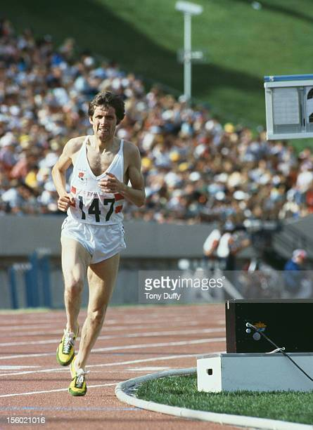 British athlete Brendan Foster takes gold in the 10000 Metres at the Commonwealth Games in Edmonton Canada August 1978