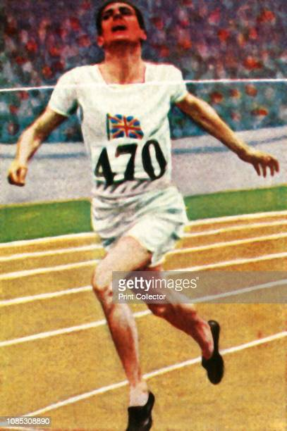British athlete Douglas Lowe winning the 800 metres in Athletics, 1928. Lowe was a double Olympic Games champion, winning gold medals at the 1924...