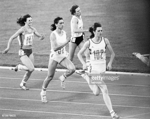 British athlete Kathy Smallwood in action to win her heat of the Women's 200 metresat the Olympic Games in Moscow 29th July 1980