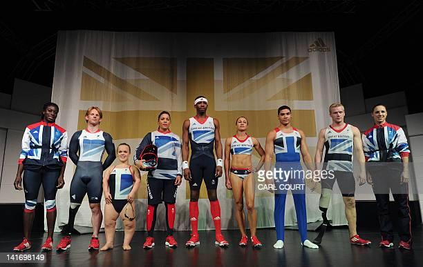 British athletes 400m runner Christine Ohuruogu paralympic cyclist Jody Cundy paralympic swimmer Eleanor Simmonds BMX cyclist Shanaze Reade triple...