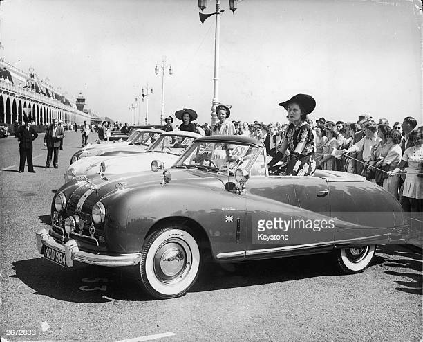 British Austin motor cars line up in the Concours d'Elegance at Brighton seafront