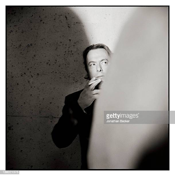 British author and journalist Christopher Hitchens photographed for Vanity Fair Magazine in May 1999 at the White House Correspondents' Dinner in...