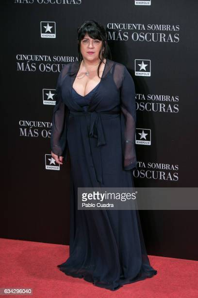 British author and producer EL James attends the 'Fifty Shades Darker' premiere at Kinepolis Cinema on February 8 2017 in Madrid Spain