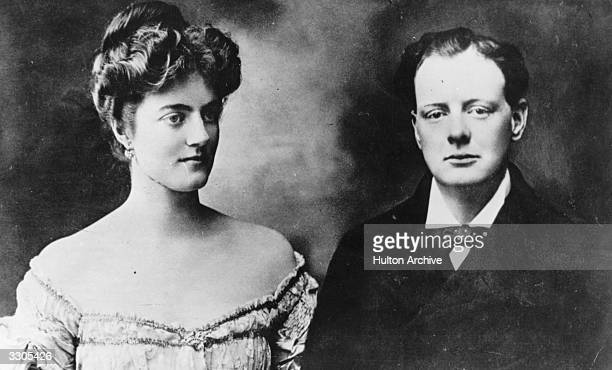 British author and statesman Winston Churchill with his fiancee Clementine at the time of their engagement