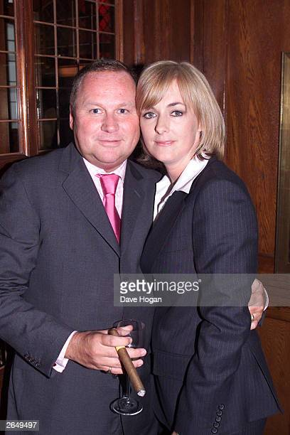 British author Jane Moore and Gary Farrow attend the book launch for Moore's latest novel called Fourplay at the Ivy Hotel on October 1 2001 in London