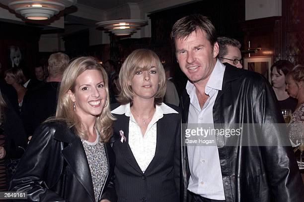 British author Jane Moore British golfer Nick Faldo and his wife attend the book launch for Moore's latest novel called Fourplay at the Ivy Hotel on...