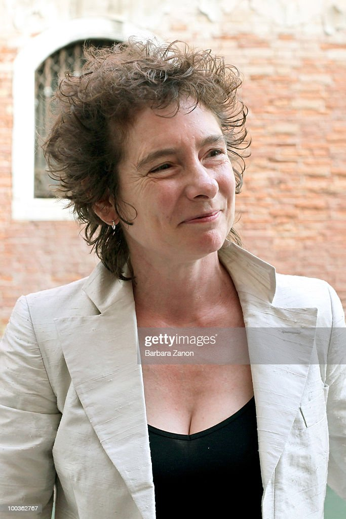 British author Jeanette Winterson poses for a portrait session during 'Incroci di civilta', Venice literary festival on May 22, 2010 in Venice, Italy.