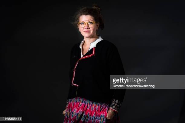 British author Jessie Greengrass attends a photo call during Edinburgh International Book Festival 2019 on August 16, 2019 in Edinburgh, Scotland.