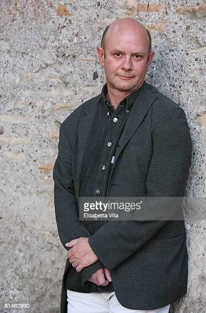 British author Nick Hornby attends the 7th edition of the Festival of Literature at Massenzio Basilica on June 5 2008 in Rome Italy