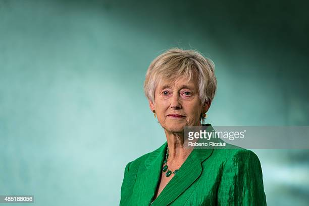 British author Stella Rimington attends a photocall at Edinburgh International Book Festival on August 25 2015 in Edinburgh Scotland