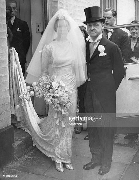British author William Somerset Maugham with his daughter Elizabeth before her wedding to Vincent Paravicini 20th July 1936