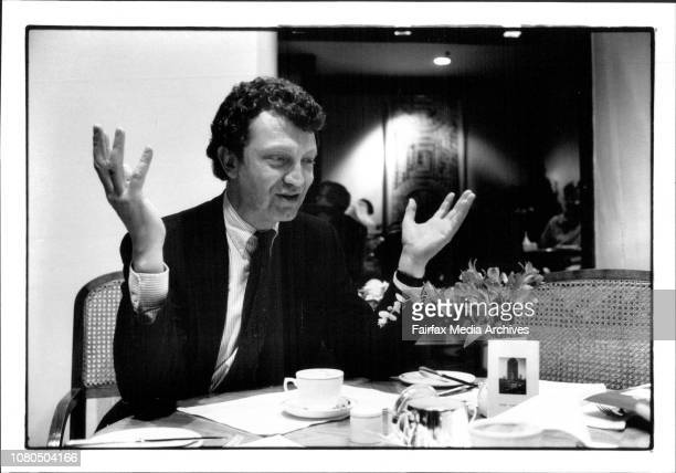 British author/journalist William Shawcross at the recent hotel he is in Sydney advocating rights for refugees June 10 1991