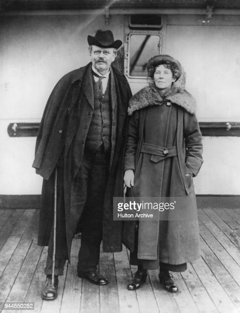 British authors G K Chesterton and his wife Frances née Blogg 1921