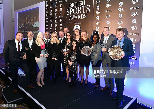 SJA British Award winners Dan Greaves Neil Baldwin Kelly Gallagher MBE Lou Macari Charlotte Evans MBE Gary Street Peter Bowker Jo Pavey Claudia...