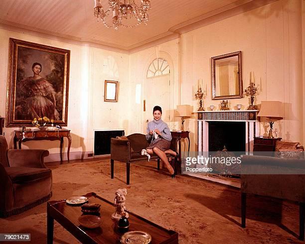 1961 British ballerina Dame Margot Fonteyn wife of Dr Roberto Arias Panamanian Ambassador at home the Panamanian Embassy in London