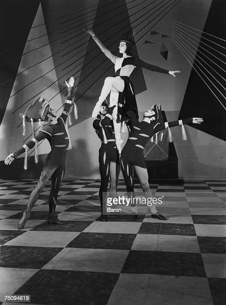 British ballerina Pamela May as the Black Queen in a Covent Garden production of the ballet 'Checkmate' with music by Arthur Bliss choreography by...