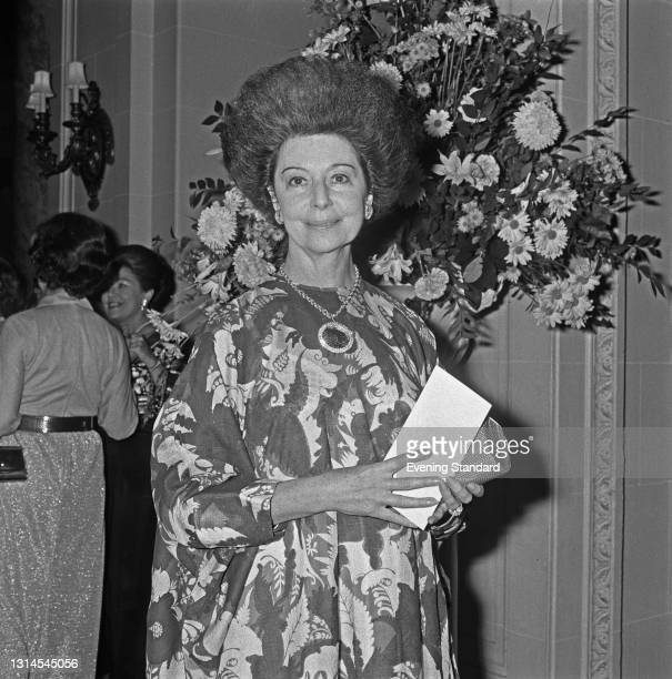 British ballet dancer Dame Alicia Markova attends a dinner in honour of British dance critic Arnold Haskell at the Ritz Hotel in London, UK, 23rd...