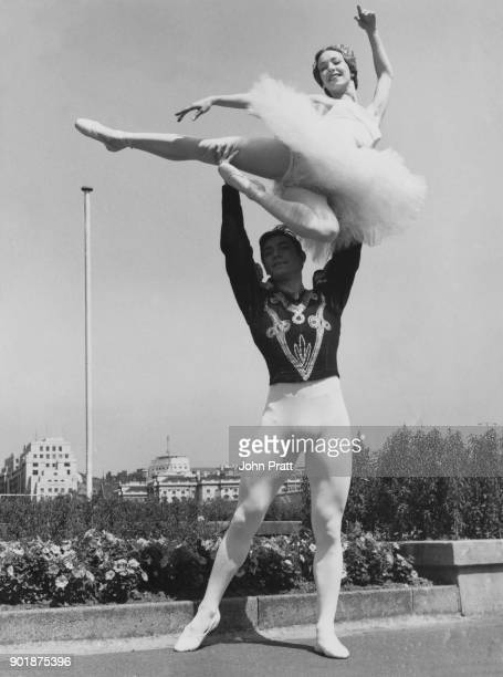 British ballet dancer David Blair and South African dancer Nadia Nerina rehearse for their upcoming appearance at the Royal Festival Hall on the...