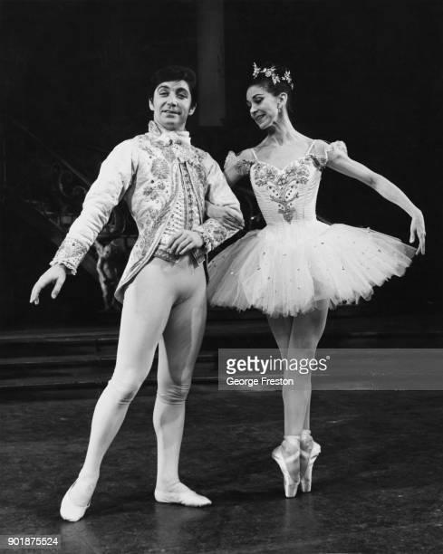 British ballet dancers David Blair and Margot Fonteyn rehearse for the Royal Ballet's Christmas production of 'Cinderella' at the Royal Opera House...