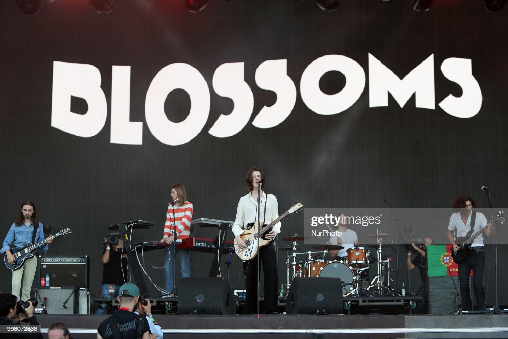 British band Blossoms performs at the NOS Alive 2018 music festival in Lisbon, Portugal, on July 13, 2018.