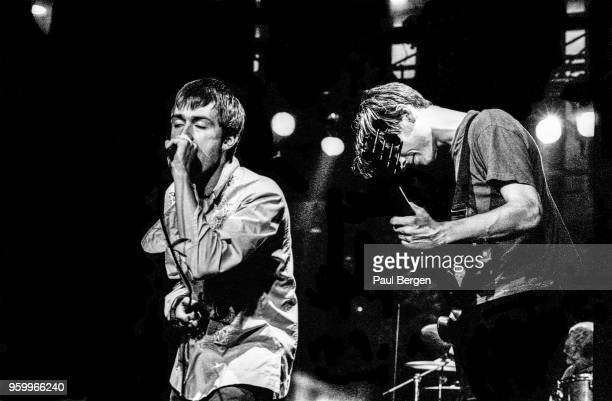 British band Blur with lead singer Damon Albarn and bassist Alex James perform at Ein Abend In Wien festival De Doelen Rotterdam Netherlands 31st...