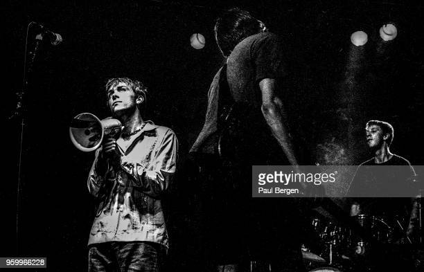 British band Blur with lead singer Damon Albarn bassist Alex James and drummer Dave Rowntree perform at Ein Abend In Wien festival De Doelen...