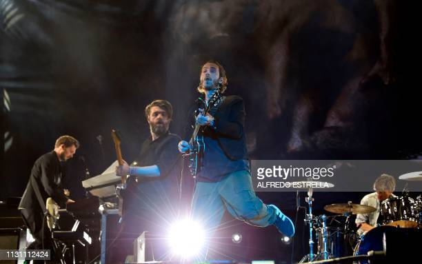 British band Editors performs during the first day of the 'Vive Latino' music festival in Mexico City on March 16 2019