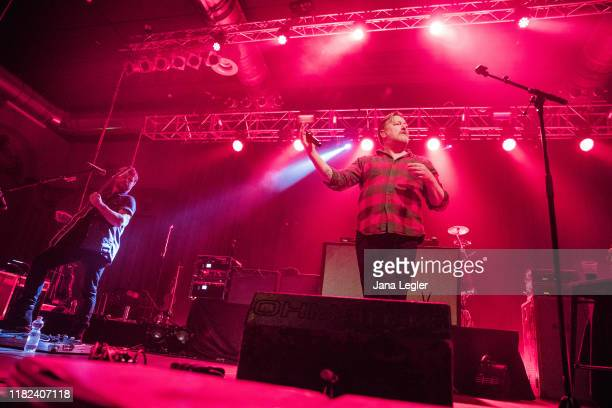 British band Elbow performs live on stage during a concert at the Huxleys Neue Welt on November 14, 2019 in Berlin, Germany.