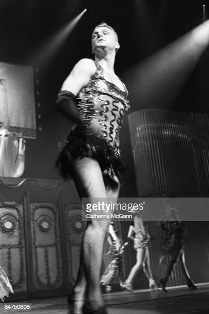 British band Erasure featuring lead singer Andy Bell in drag perform live on October 28 1992 in New York City New York