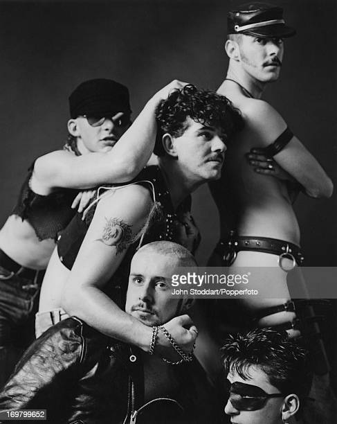 British band Frankie Goes To Hollywood October 1982 Clockwise from top left guitarist Brian Nash drummer Peter Gill keyboard player Paul Rutherford...