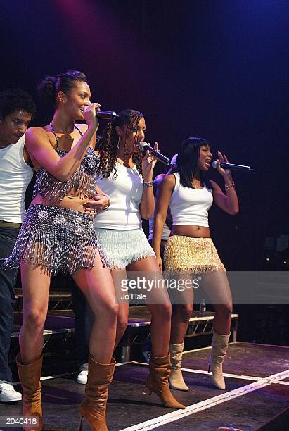 British band MisTeeq perform live on stage at GAY at the Astoria London on March 292003