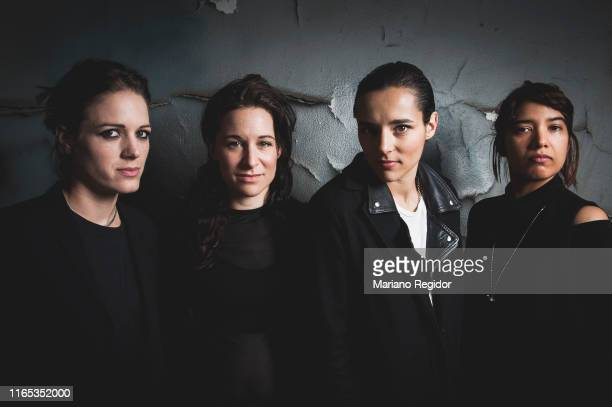 British band Savages members Gemma Thompson, Fay Milton, Jehnny Beth and Ayse Hassan pose for a portrait for Mondosonoro Magazine on October 30, 2015...