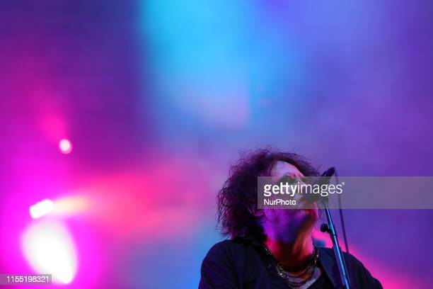 British band The Cure lead singer Robert Smith perform during the NOS Alive 2019 music festival in Lisbon Portugal on July 11 2019 The NOS Alive...