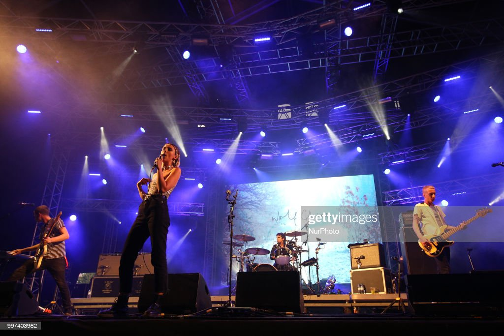 British band Wolf Alice performs at the NOS Alive 2018 music festival in Lisbon, Portugal, on July 12, 2018.