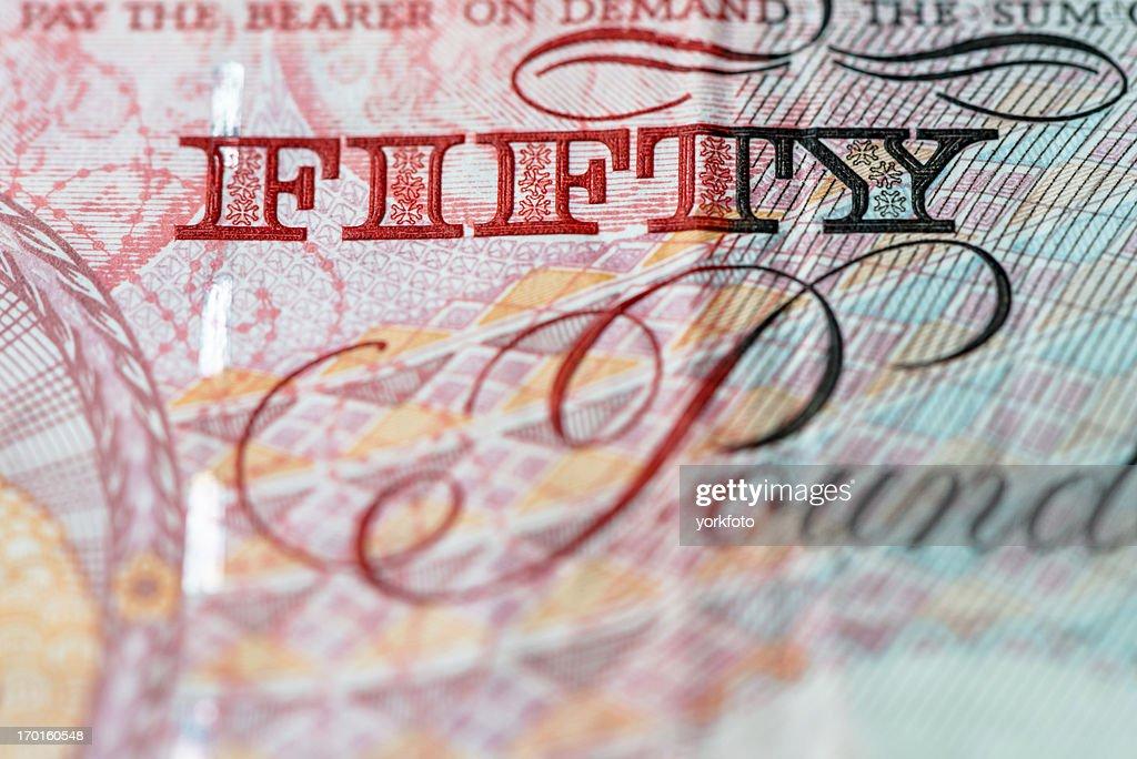 British bank notes : Stock Photo