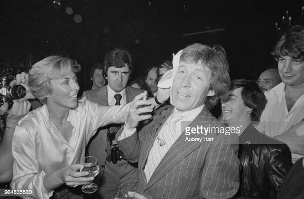 British baronet and gardening expert Roddy Llewellyn celebrating his 32nd Birthday with friends at a London Club UK 10th October 1978