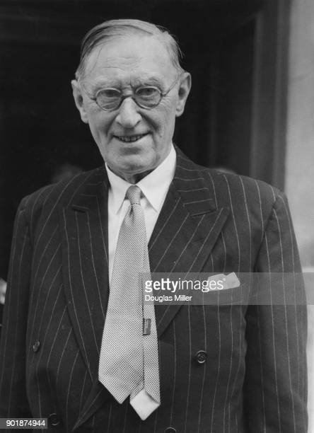 British barrister Lord Birkett 1st Baron Birkett arrives at the Ministry of Labour in London where he is acting as the Independent Chairman in the...