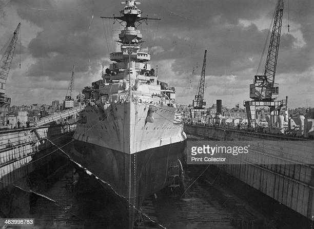 British battleship HMS 'Malaya' in a floating dock Malta c1937 HMS 'Malaya' entered service with the Royal Navy in 1916 sustaining heavy damage at...