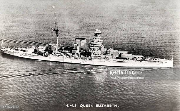 British battleship HMS Queen Elizabeth during World War One circa 1915 HMS Queen Elizabeth was named in honour of Elizabeth I and saw service in both...