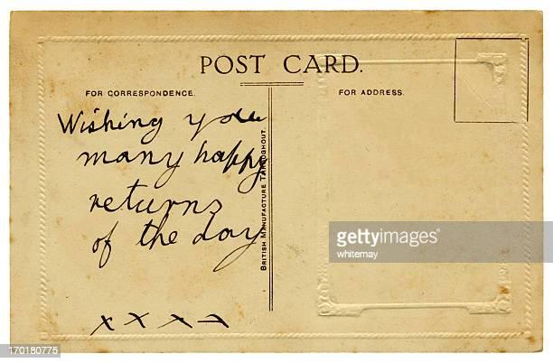 British birthday greetings postcard