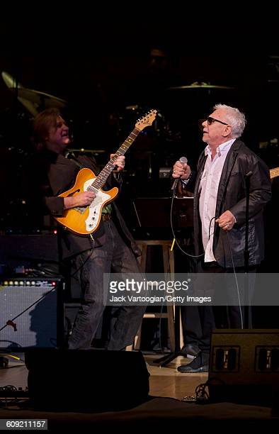 British Blues and Rock musician Eric Burdon with Peter Calo on guitar performs onstage during Lead Belly Fest at Carnegie Hall New York New York...