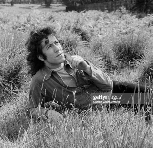 British blues rock guitarist and founder of Fleetwood Mac, Peter Green, June 1969.