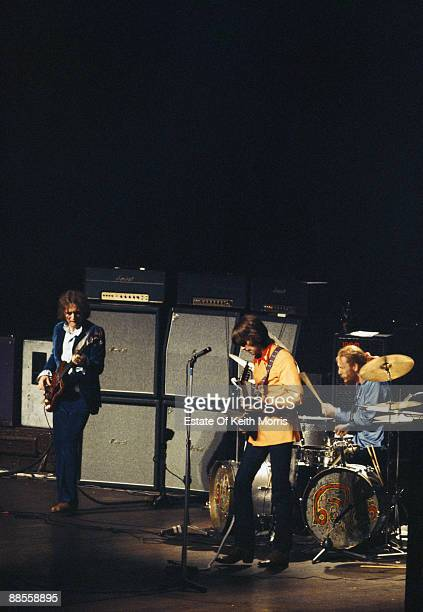 British bluesrock band Cream live in concert at the Royal Albert Hall in London 26th November 1968 From left to right bassist Jack Bruce guitarist...
