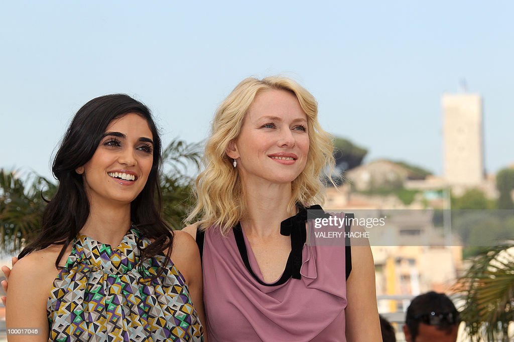 British born Australian actress Naomi Watts and Israeli actress Liraz Charhi (L) pose during the photocall of 'Fair Game' presented in competition at the 63rd Cannes Film Festival on May 20, 2010 in Cannes.